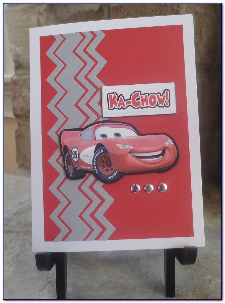 Mcqueen Car Birthday Card