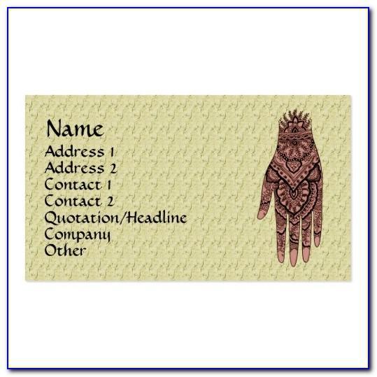 Mehndi Business Card Design
