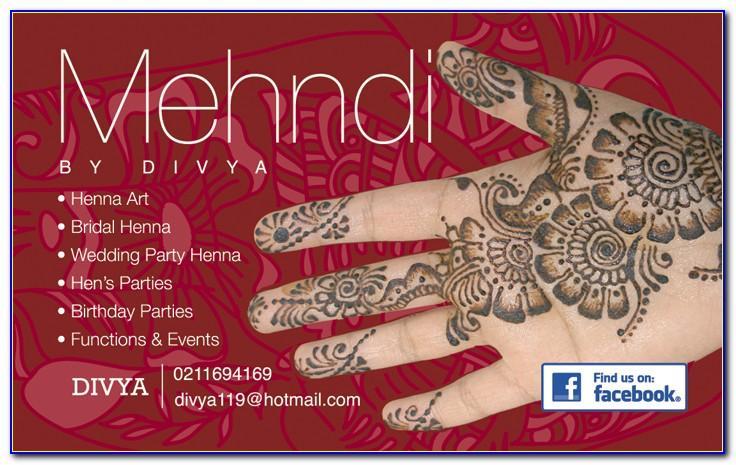 Mehndi Business Card Templates