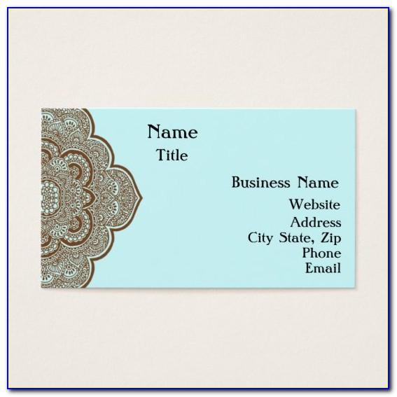 Mehndi Business Cards