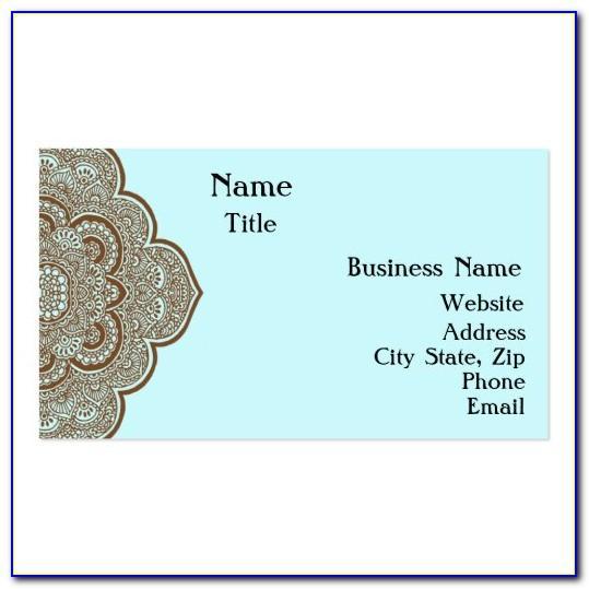 Mehndi Visiting Card Design