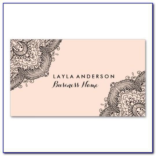 Mehndi Visiting Card Designs