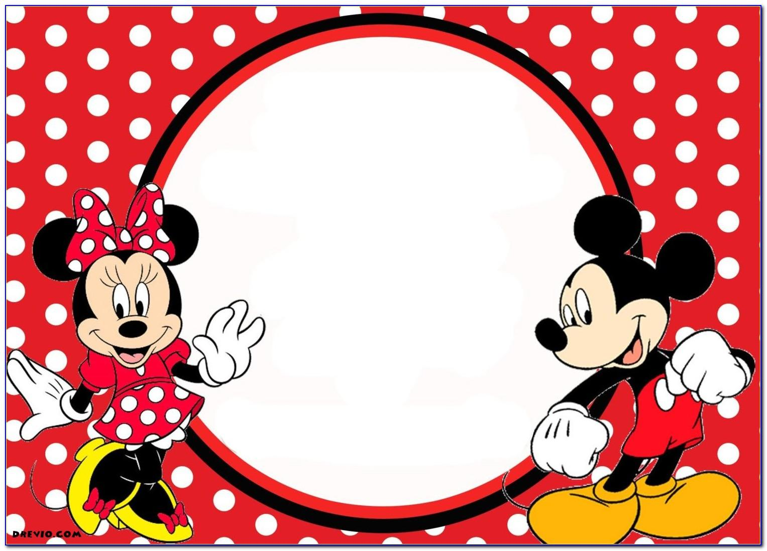 Mickey And Minnie Mouse Birthday Card