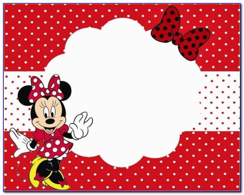 Mickey Mouse 1st Birthday Invitation Card