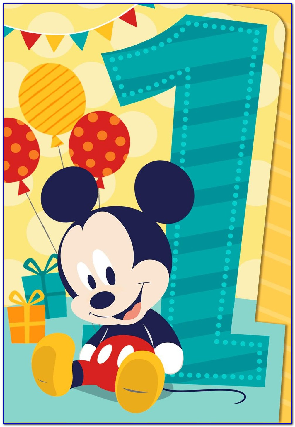 Mickey Mouse Birthday Card Template Free