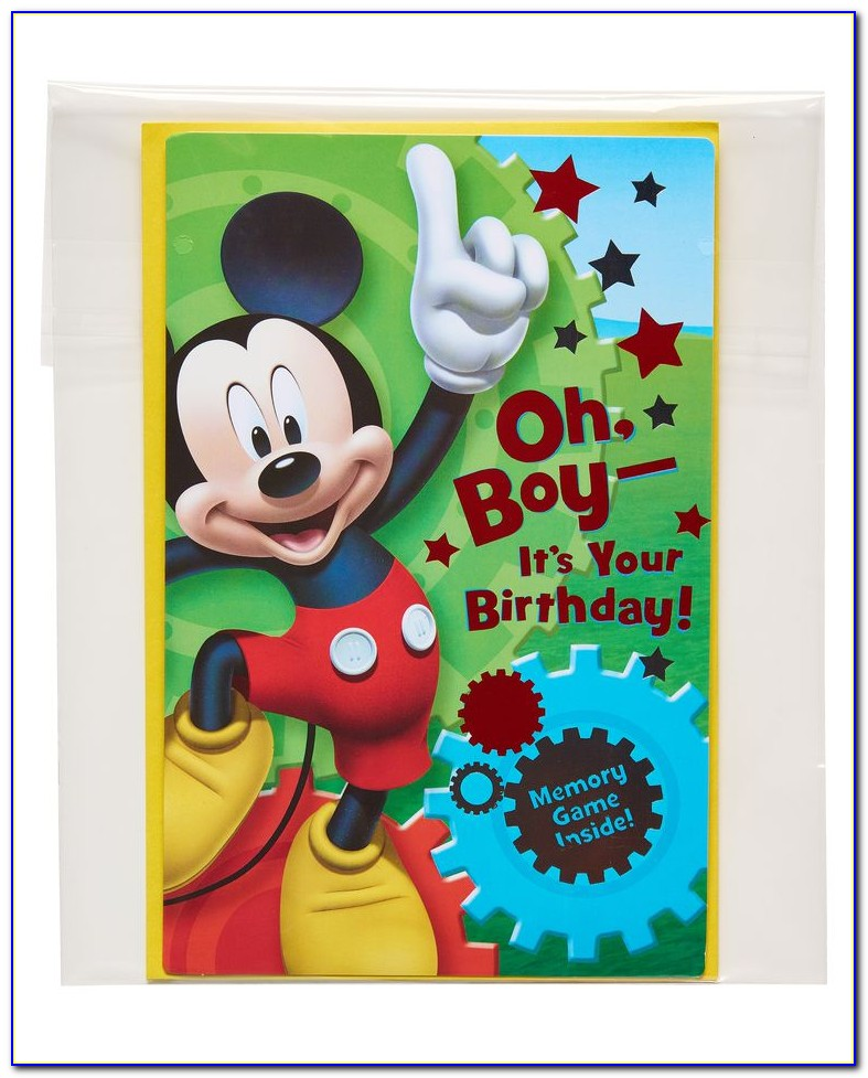 Mickey Mouse Birthday Cards Free