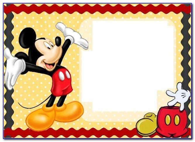 Mickey Mouse Birthday Party Invitation Card