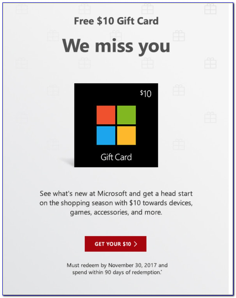 Microsoft Xbox Gift Cards Free