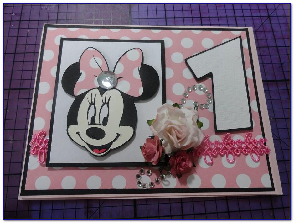 Minnie Mouse 1st Birthday Invitation Card
