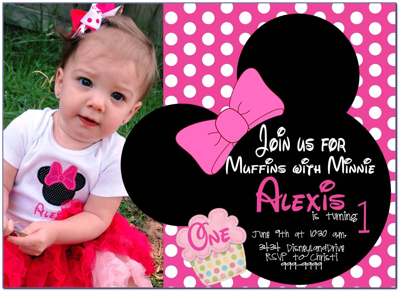 Minnie Mouse Birthday Card Free