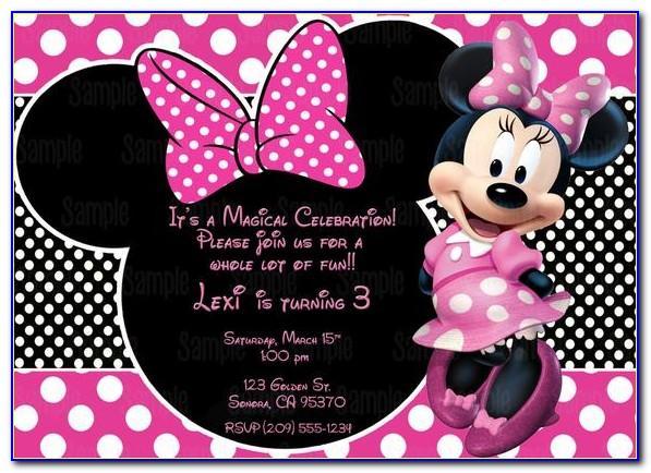 Minnie Mouse Birthday Card Printable