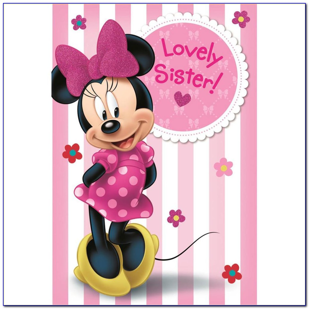 Minnie Mouse Birthday Card Template