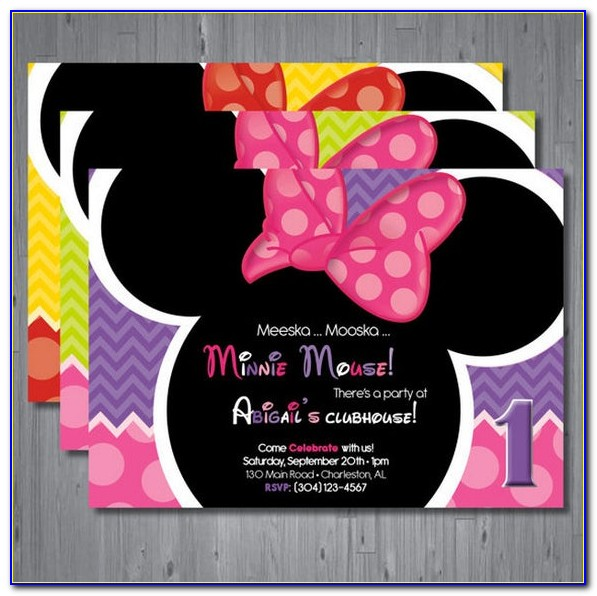 Minnie Mouse Happy Birthday Card Template