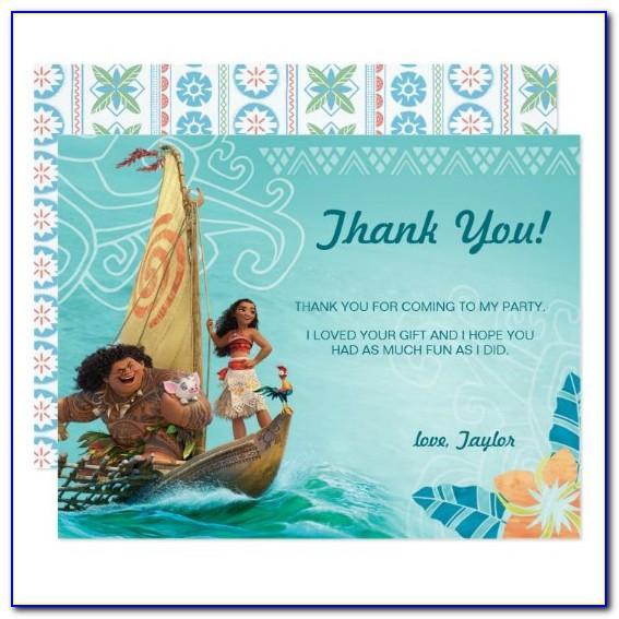 Moana Birthday Card Free