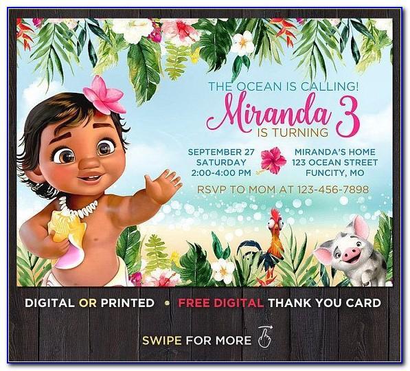 Moana Happy Birthday Card
