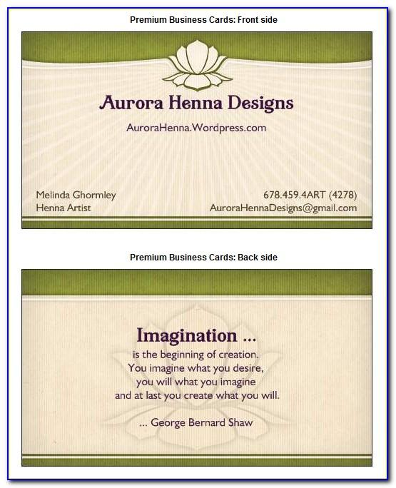 Mobile Notary Business Cards Samples