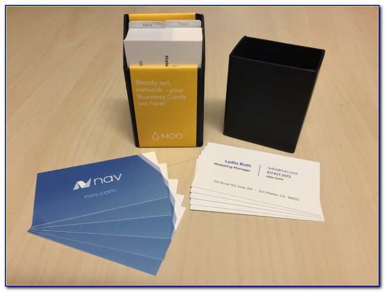 Moo Foil Business Cards