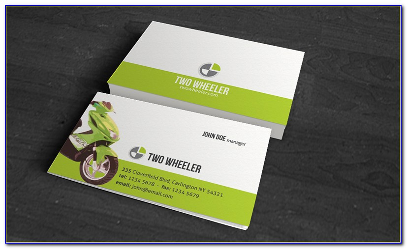 Motorcycle Business Card Design