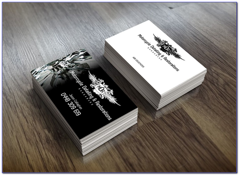 Motorcycle Visiting Card Design