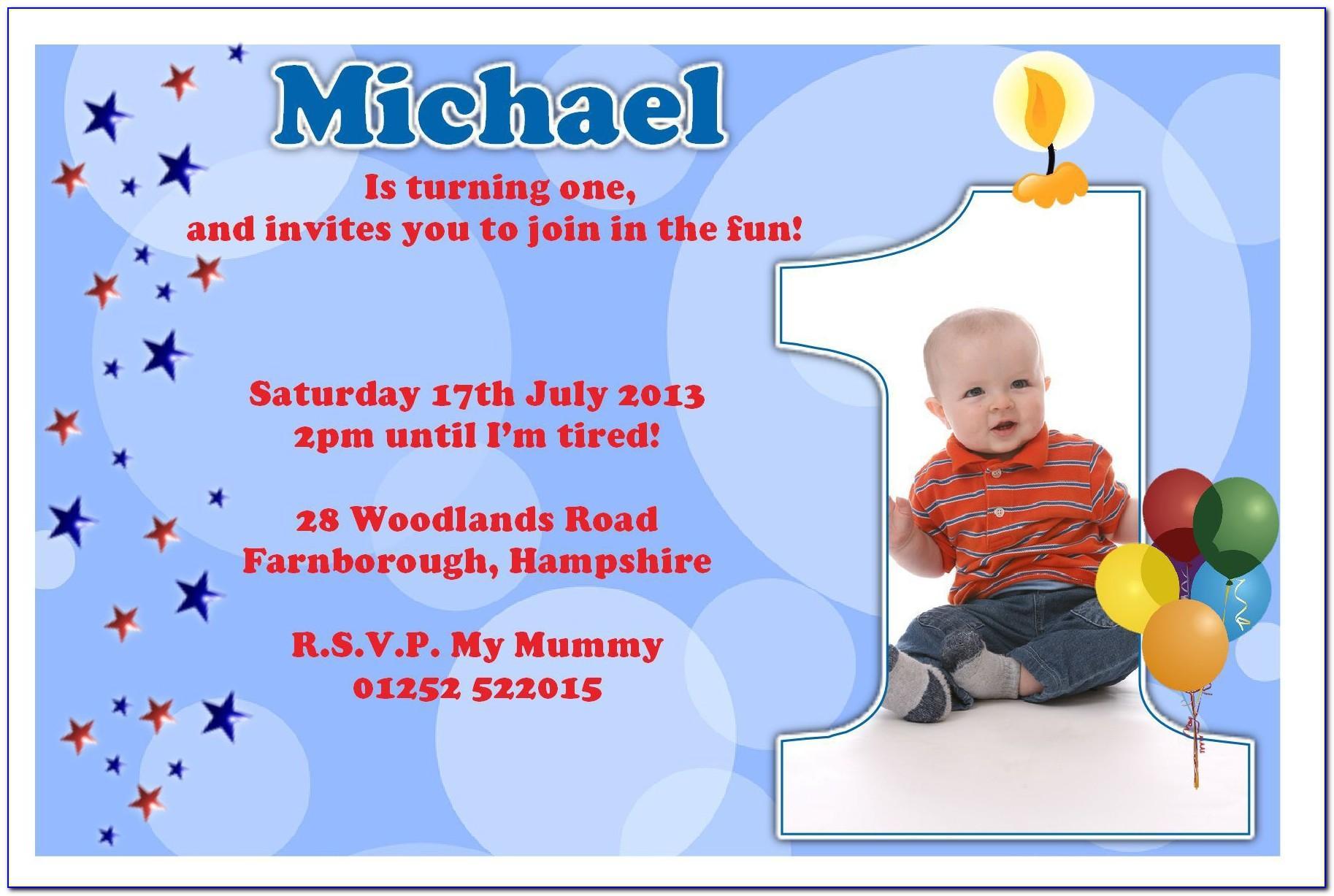 Ms Word Birthday Invitation Card Template