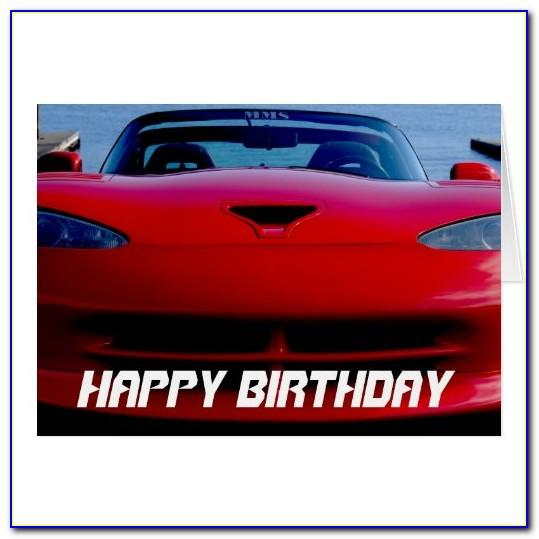 Muscle Car Birthday Cards