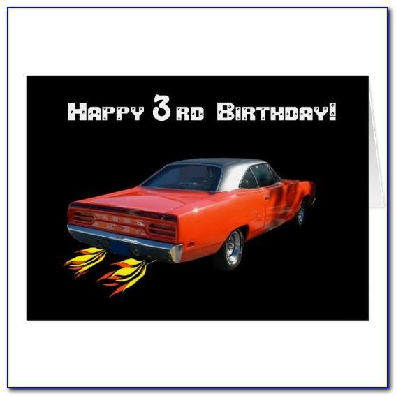 Muscle Car Happy Birthday Card