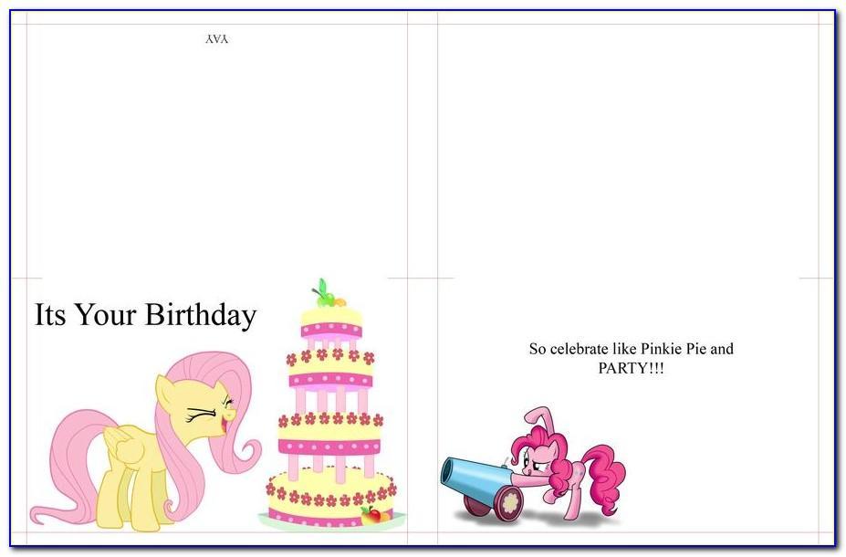 My Little Pony Birthday Card Creator Free