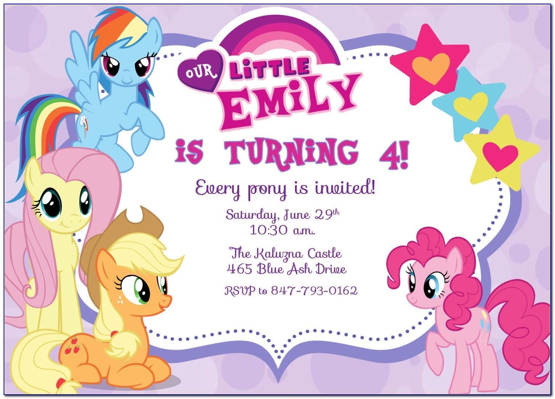 My Little Pony Birthday Card Creator