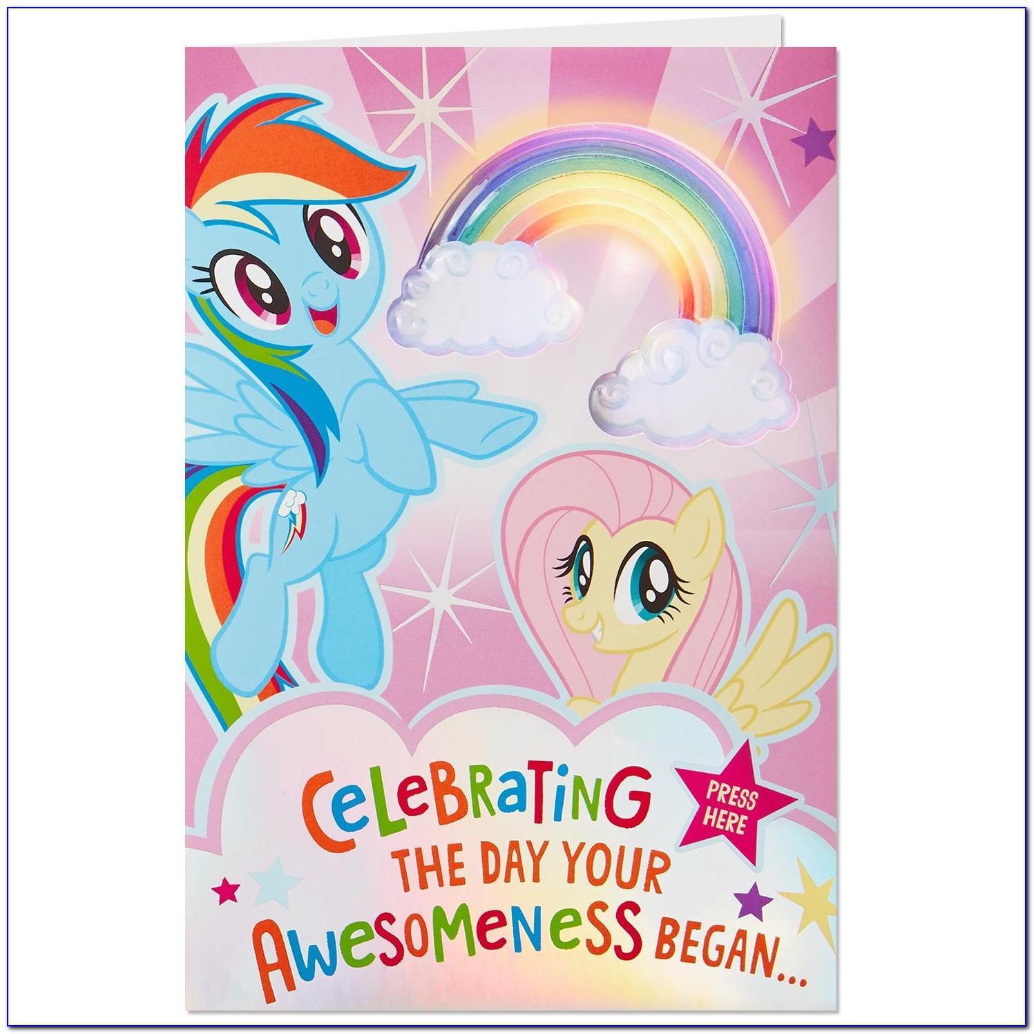 My Little Pony Birthday Card Free