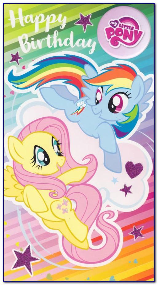 My Little Pony Birthday Card Template