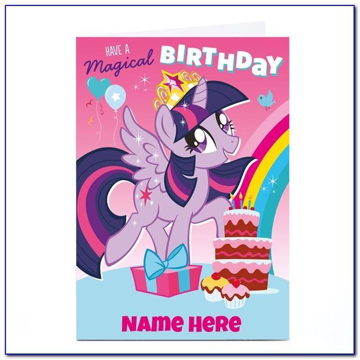 My Little Pony Birthday Cards To Print