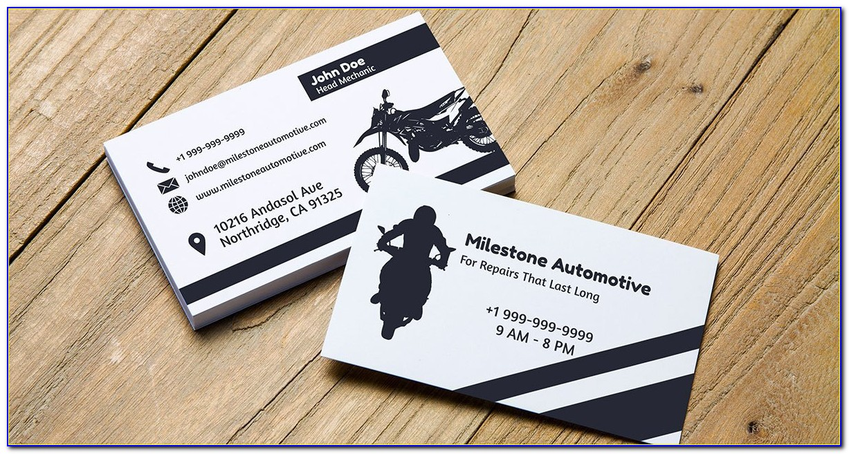 Navy Blue And Gold Business Cards