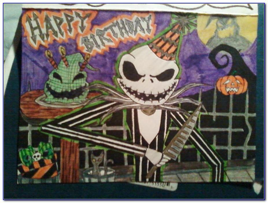 Nightmare Before Christmas Birthday Card Uk