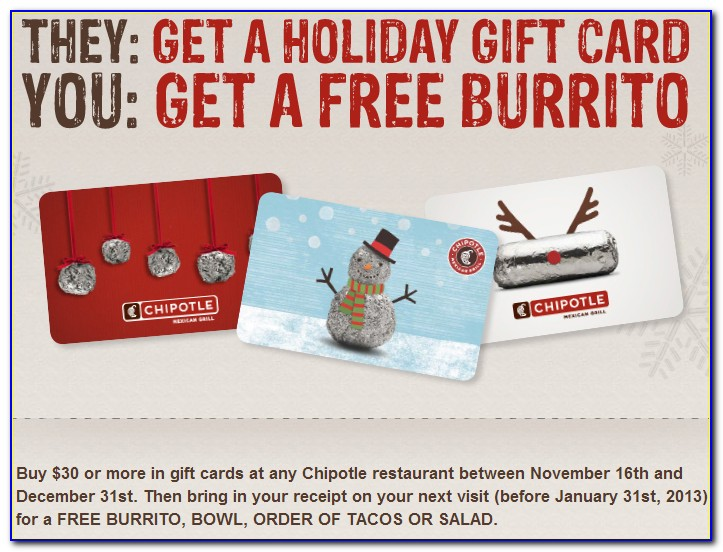 One Free Chipotle Card