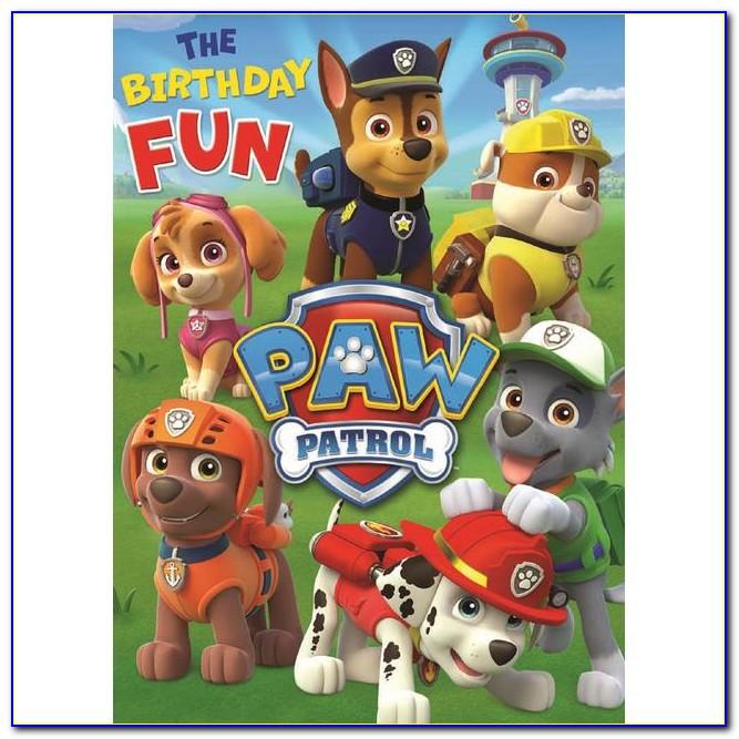 Paw Patrol Birthday Card Asda