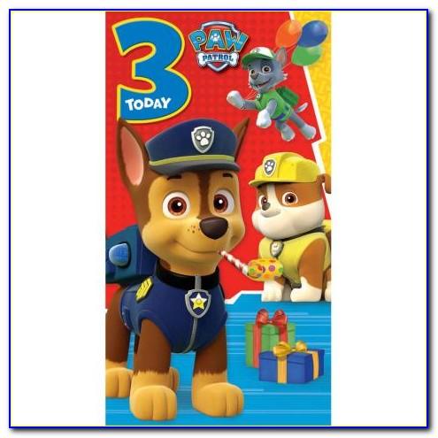 Paw Patrol Birthday Card Printable