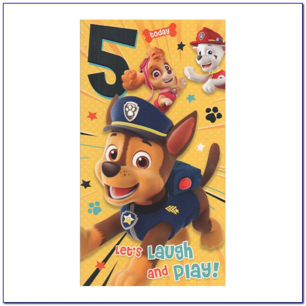 Paw Patrol Birthday Cards Online