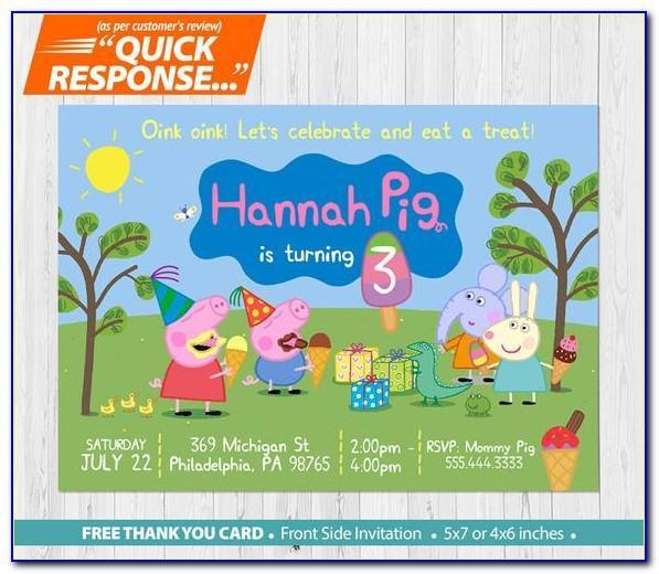 Peppa Pig Birthday Card Age 2