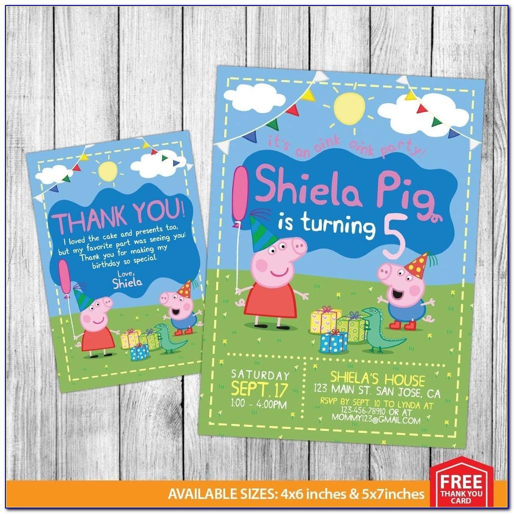 Peppa Pig Birthday Card Age 4