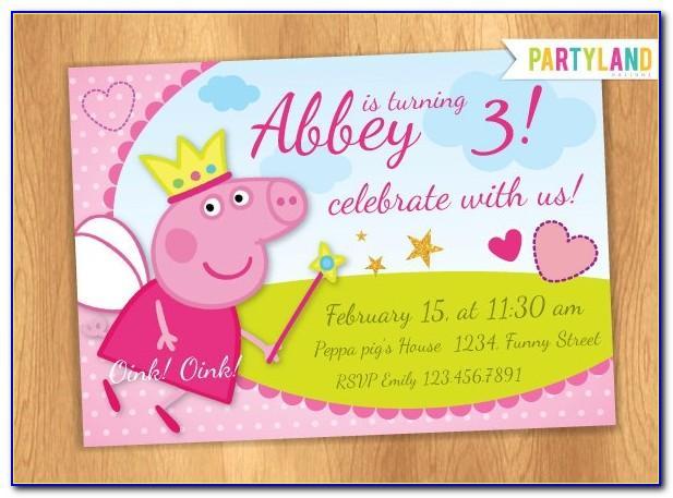 Peppa Pig Birthday Card Free