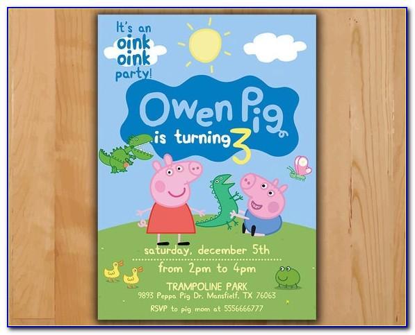 Peppa Pig Birthday Card Printable