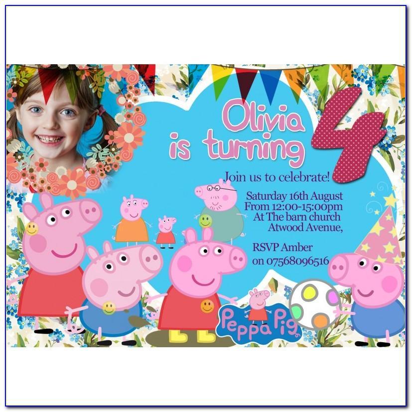 Peppa Pig Birthday Card Template