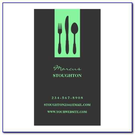 Personal Chef Business Card Template