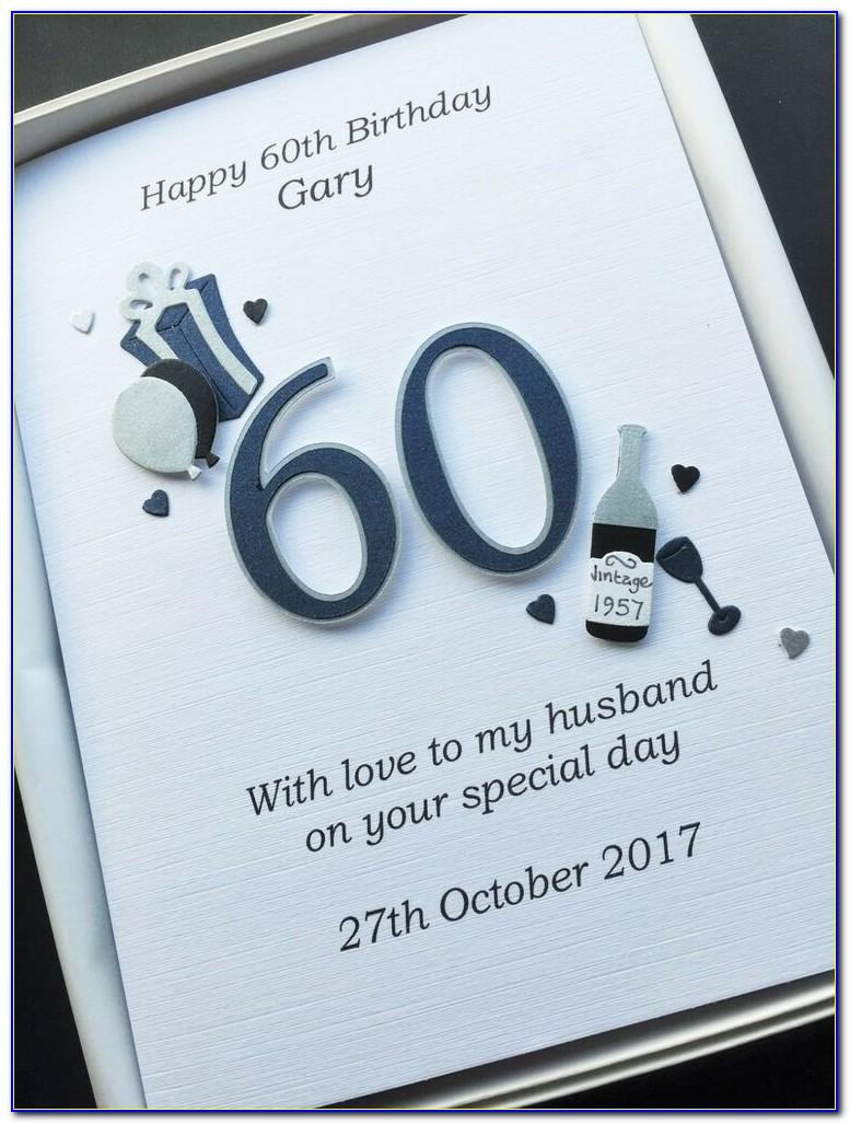 Personalised 60th Birthday Card For Wife