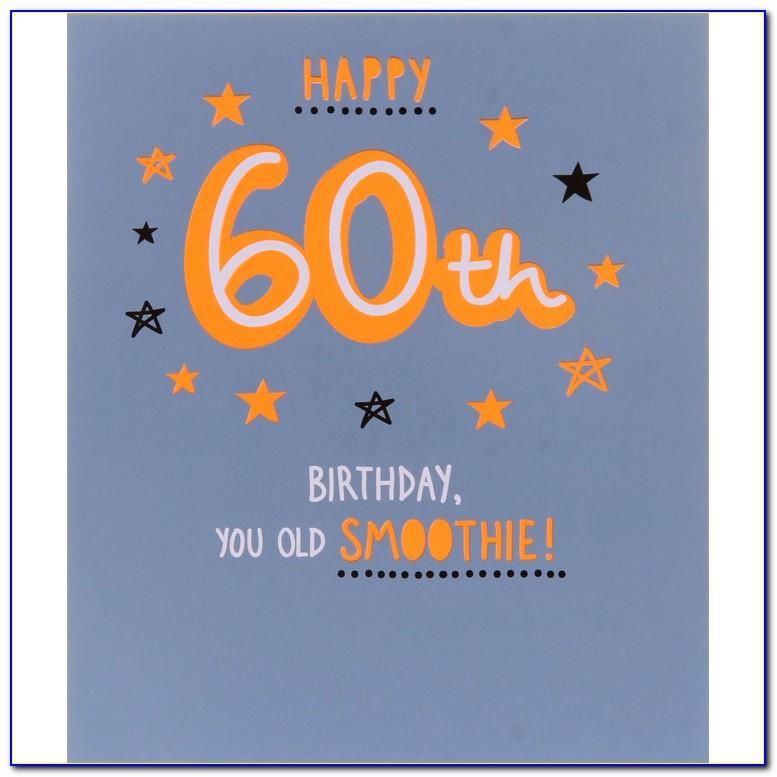 Personalised 60th Birthday Cards For Her