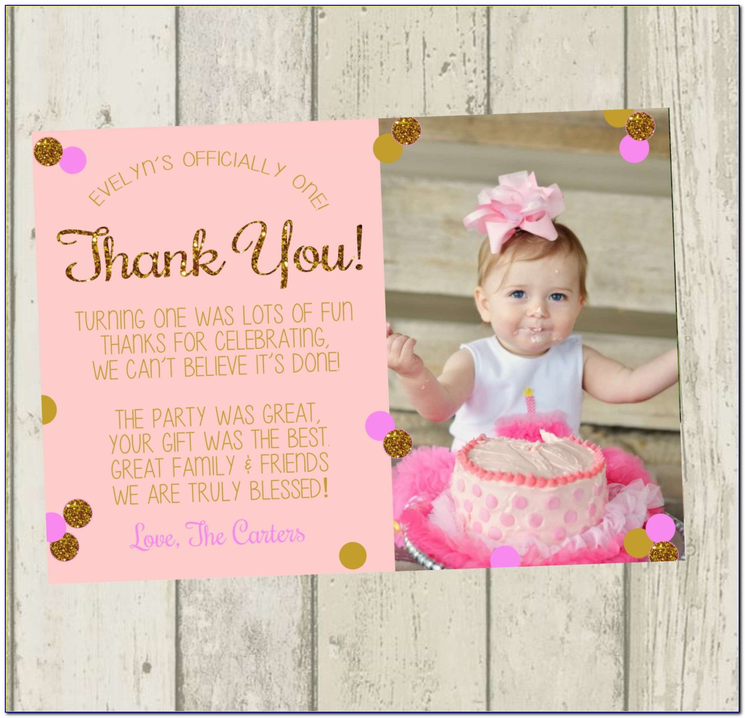 Personalised 60th Birthday Thank You Cards
