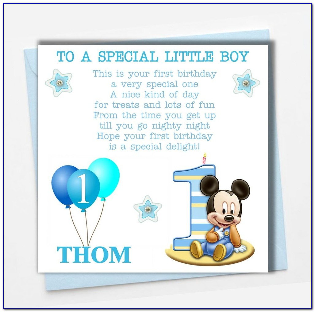 Personalised Baby's First Birthday Card