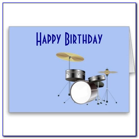 Personalised Birthday Cards For Drummers