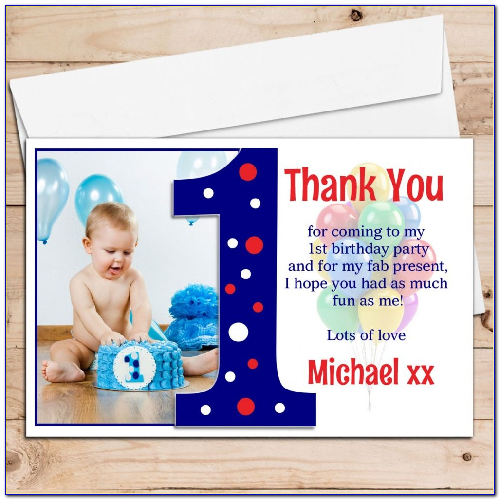 Personalised Childrens Birthday Thank You Cards