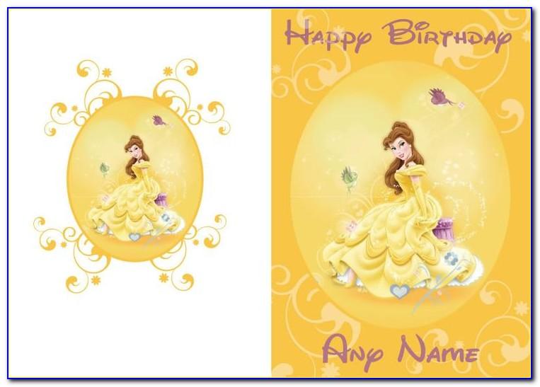 Personalised Disney Princess Birthday Cards